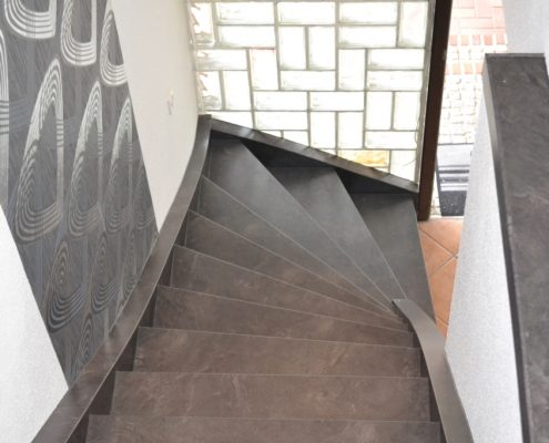 """Treppenrenovierung Ahaus, CPL """"Anthrazit Stone"""""""