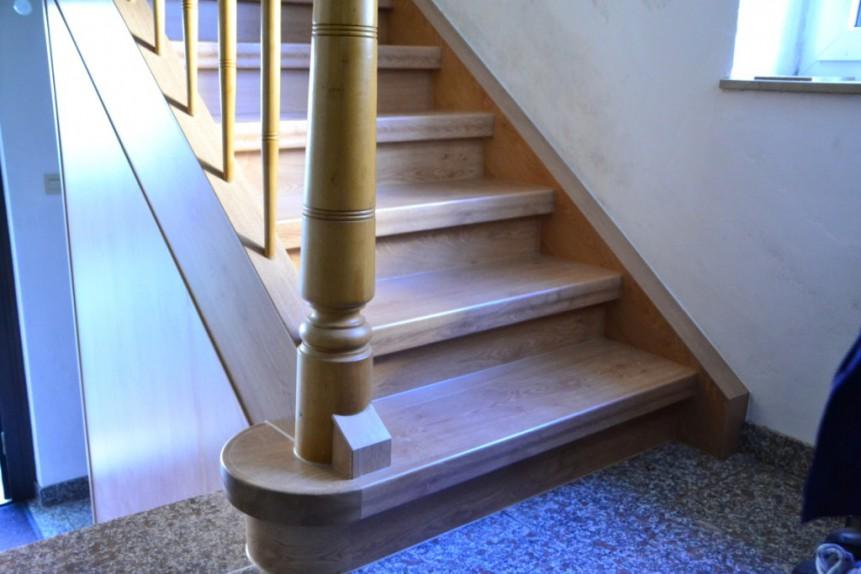 Treppenrenovierung in Buseck, Dekor Eiche