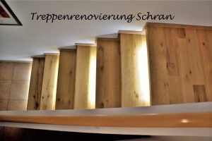 Echtholz Wildeiche mit LED-Beleuchtung