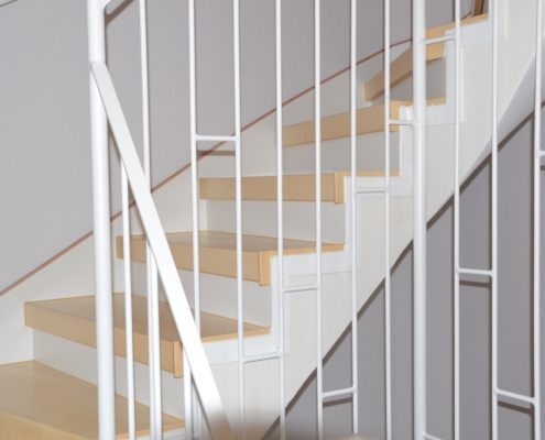 Treppenrenovierung in Bremen, Massivholz Ahorn