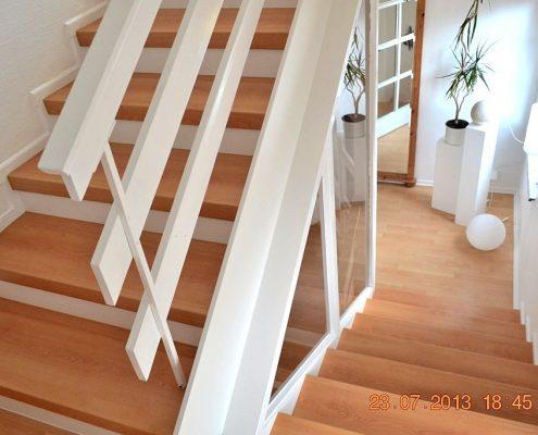 Treppenrenovierung in Fulda, CPL Buche