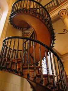 Die Holztreppe in der Lorettokapelle von Santa Fe