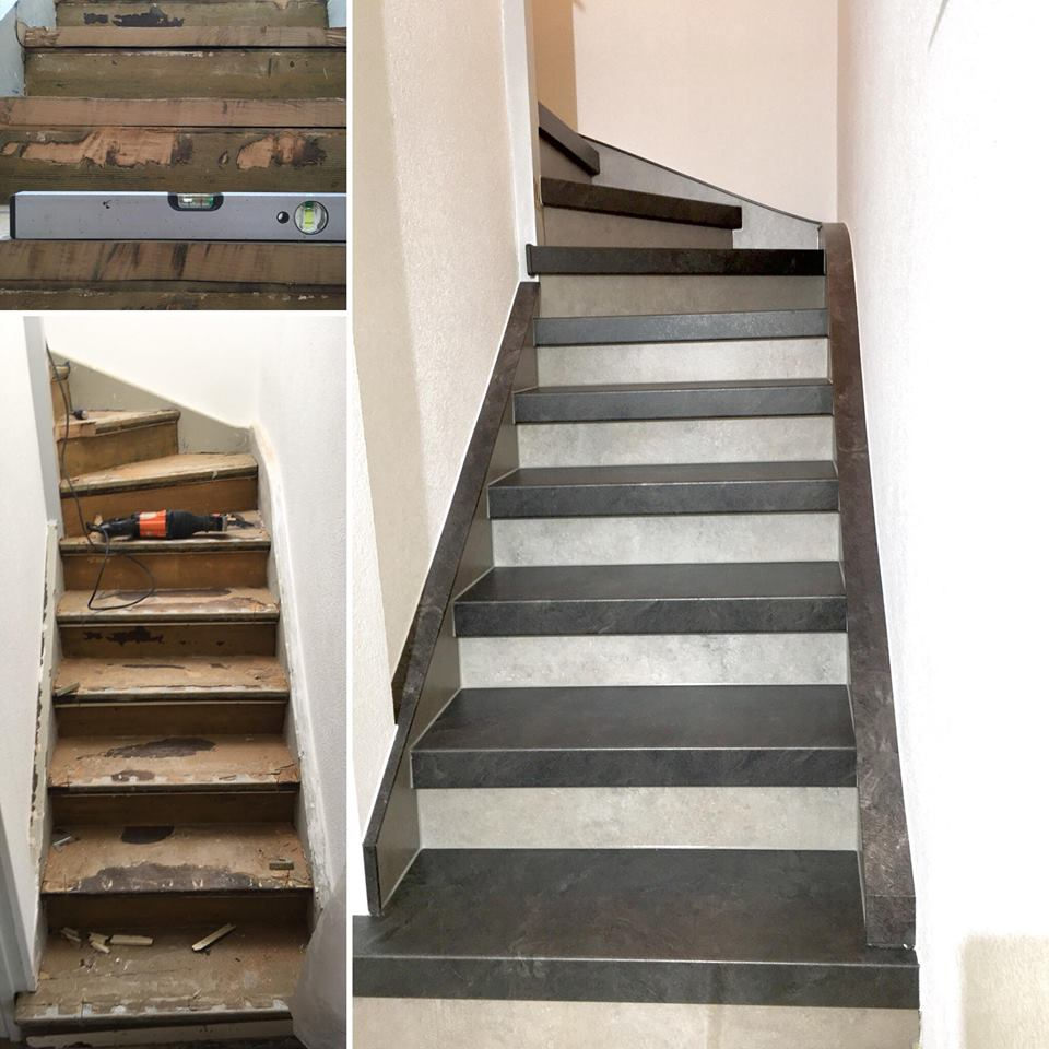 bildergalerie treppenrenovierung treppensanierung schran. Black Bedroom Furniture Sets. Home Design Ideas